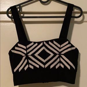 H&M crop top with straps
